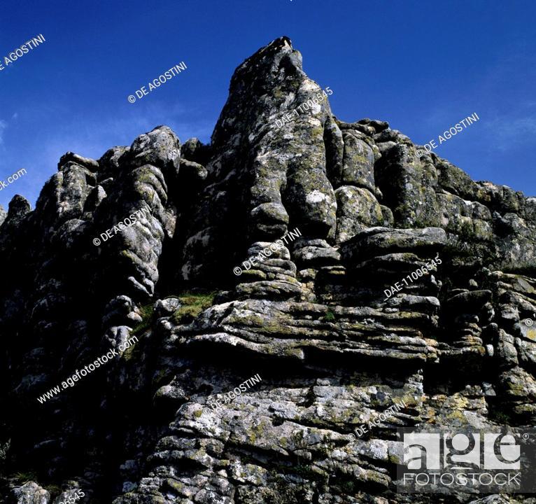 Stock Photo: Granite rocks, Mount Limbara, Sardinia, Italy.