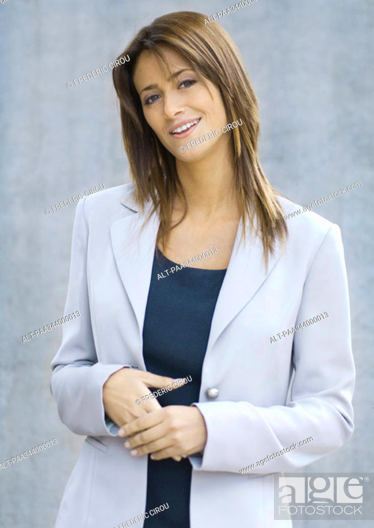 Stock Photo: Young businesswoman, portrait.