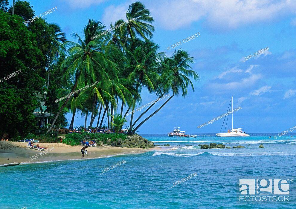Stock Photo: King's Beach, Barbados.