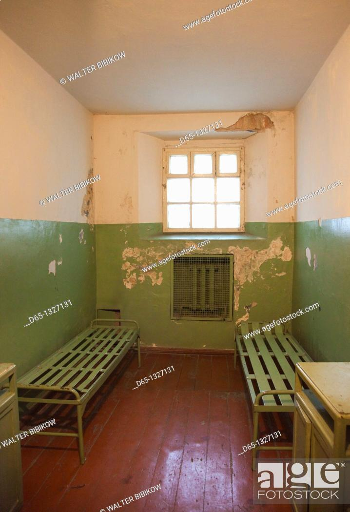 Stock Photo: Lithuania, Vilnius, Museum of Genocide Victims, former KGB headquarters, prison cell.