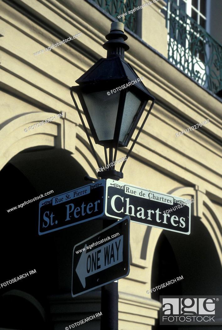 Lamp Post New Orleans French Quarter Arcades Louisiana La