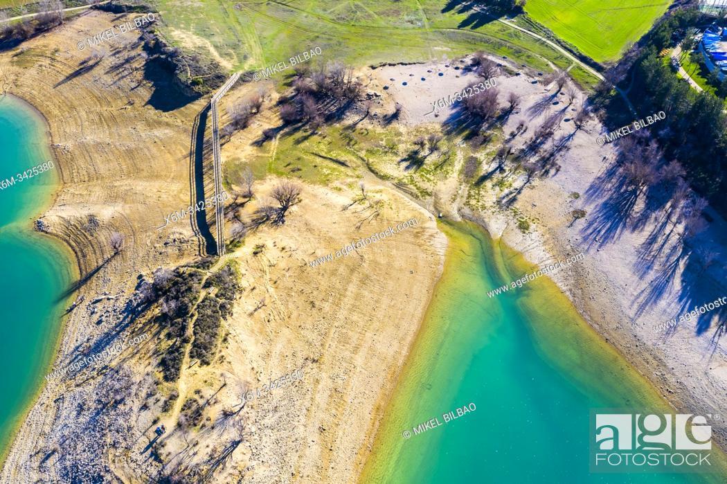 Stock Photo: Alloz reservoir. Navarre, Spain, Europe.