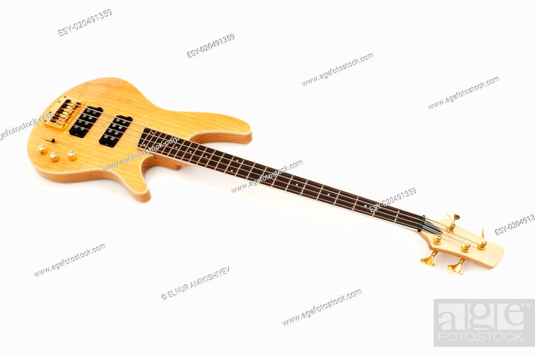 Stock Photo: Musical guitar isolated on the white background.