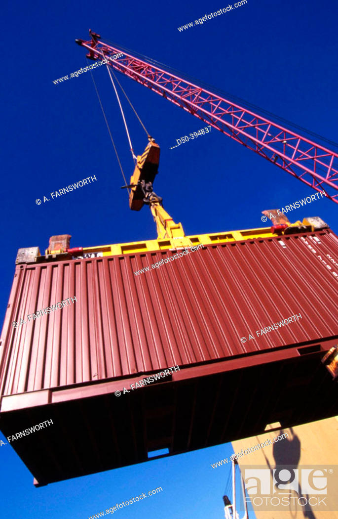 Stock Photo: Container in port. Stockholm. Sweden.