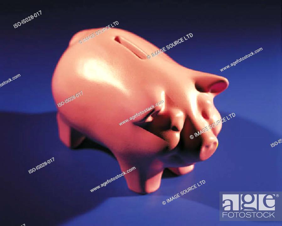 Stock Photo: Piggy bank.