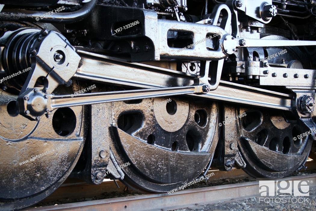 Stock Photo: Steam engine locomotive.
