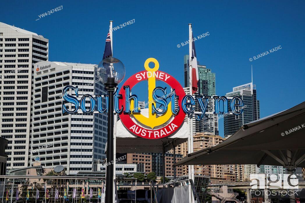Stock Photo: South Steyne ship restaurant, Darling Harbour, Sydney, Australia.