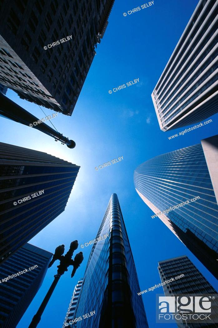 Stock Photo: Tall buildings in San Francisco financial district.