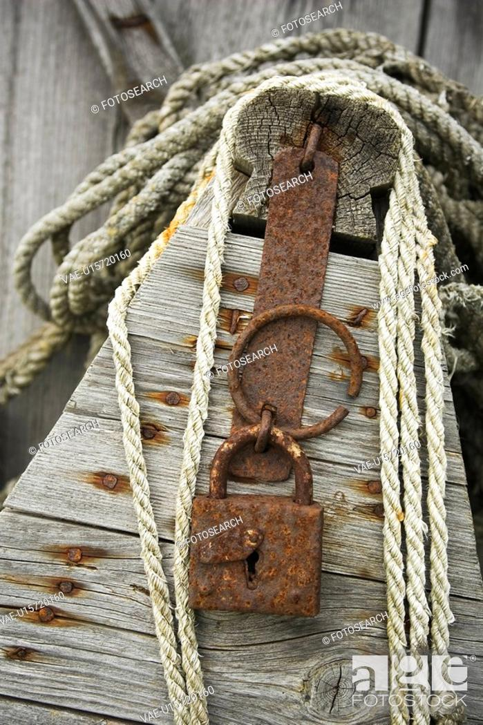 Stock Photo: Boat, Close-Up, Day, Lock, Metal.