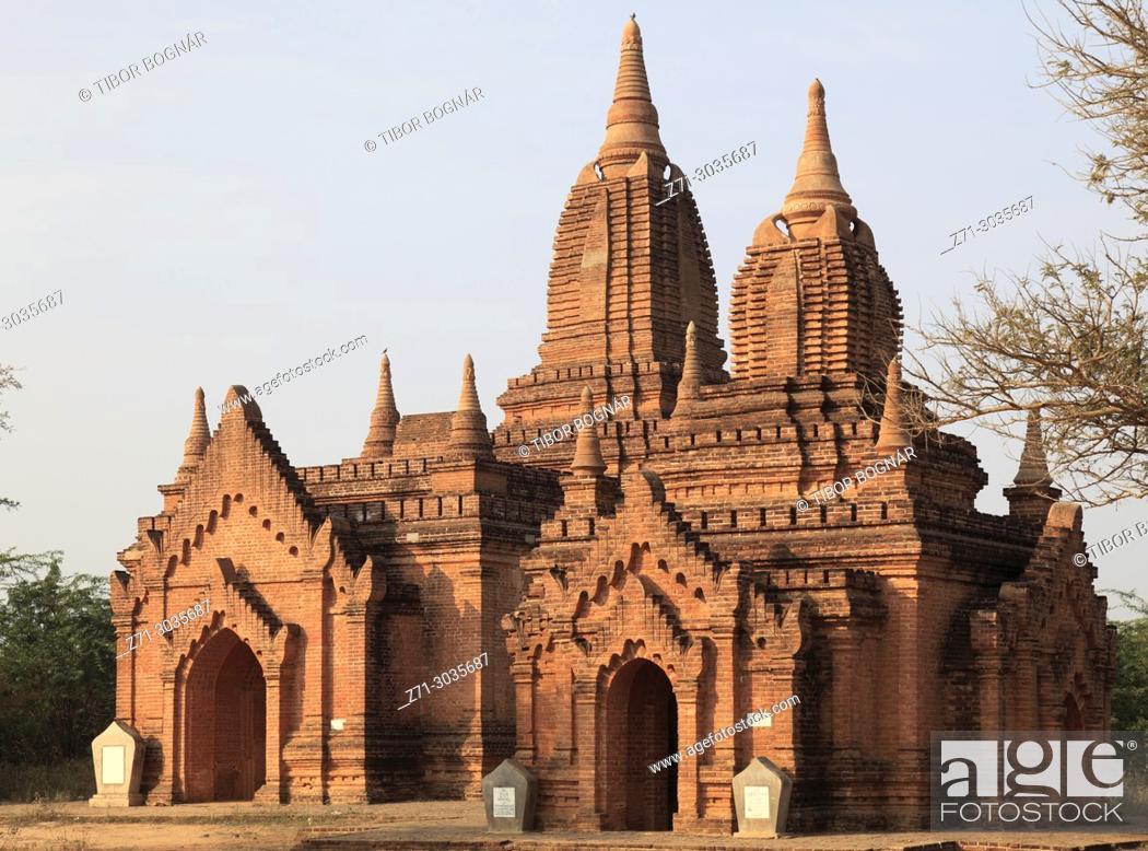 Imagen: Myanmar, Burma, Bagan, buddhist temple, .