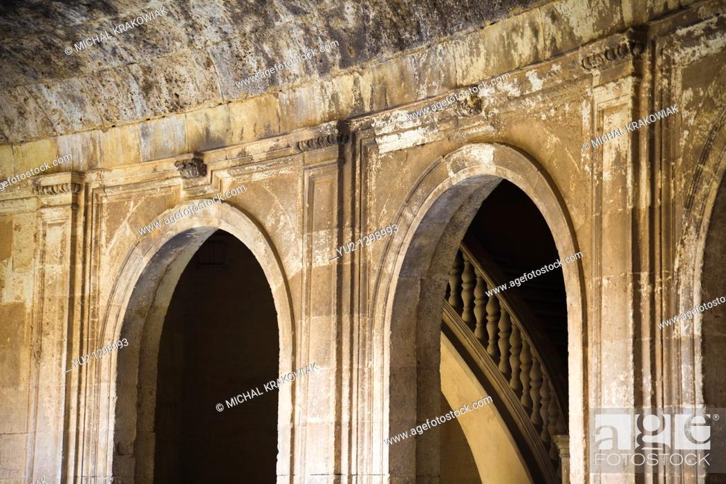 Stock Photo: Palacio de Carlo V in Alhambra complex Granada, Spain.