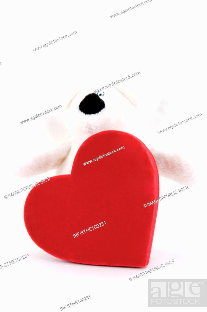 Stock Photo: heart shape and doll.