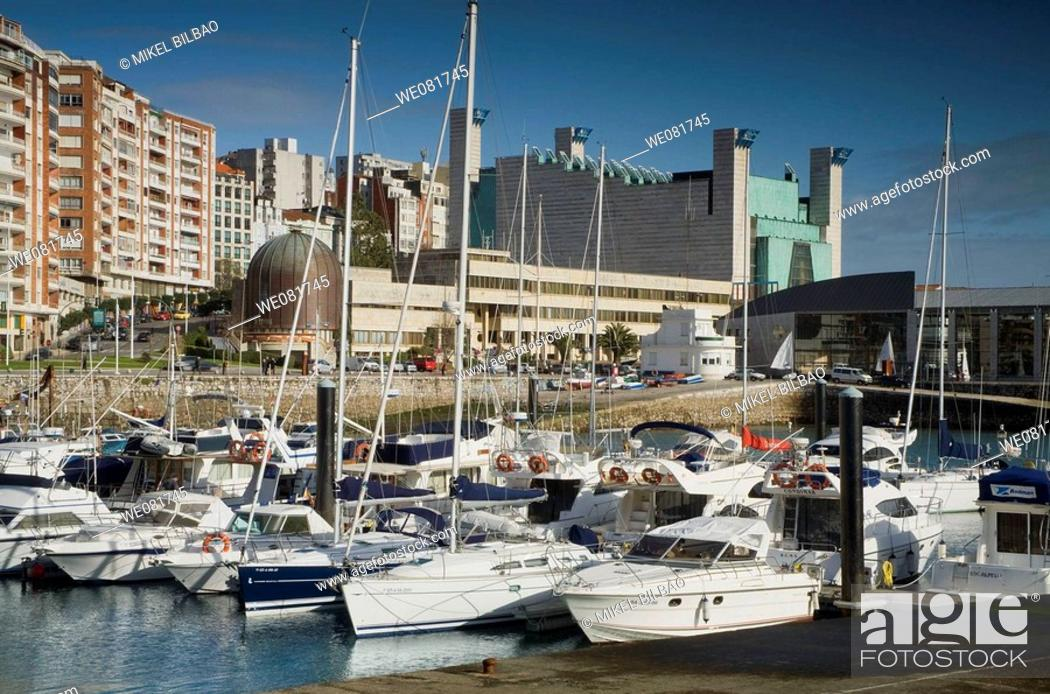 Stock Photo: Puerto Chico and Palacio de Festivales, Santander, Cantabria, Spain.