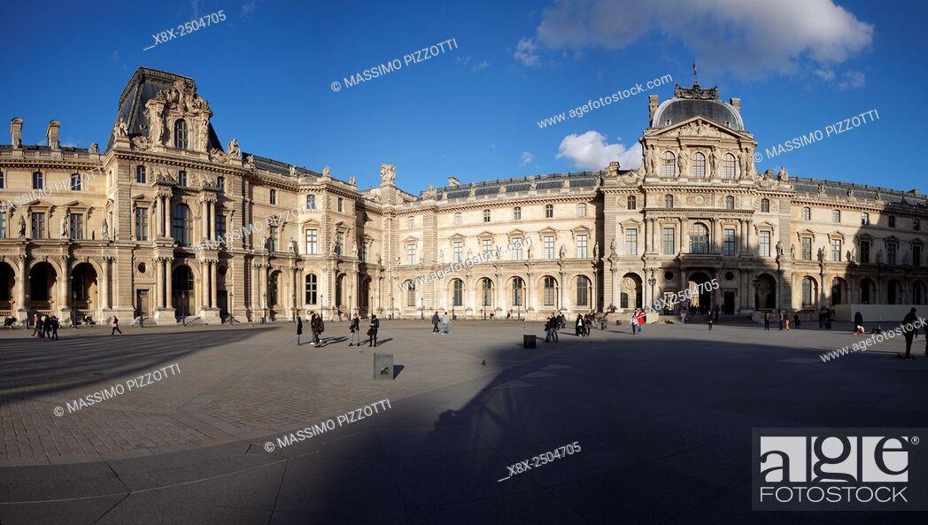 Stock Photo: The Louvre Palace, Paris, France.