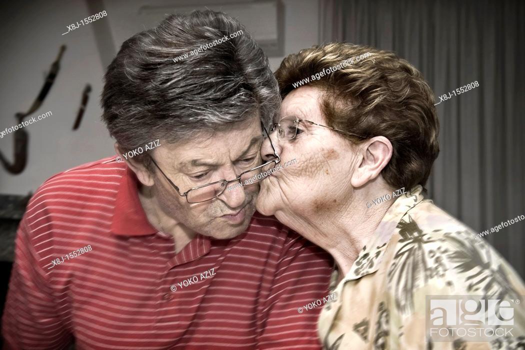 Stock Photo: Anna and Mario, 50 th wedding anniversary, Cuggiono, Italy.