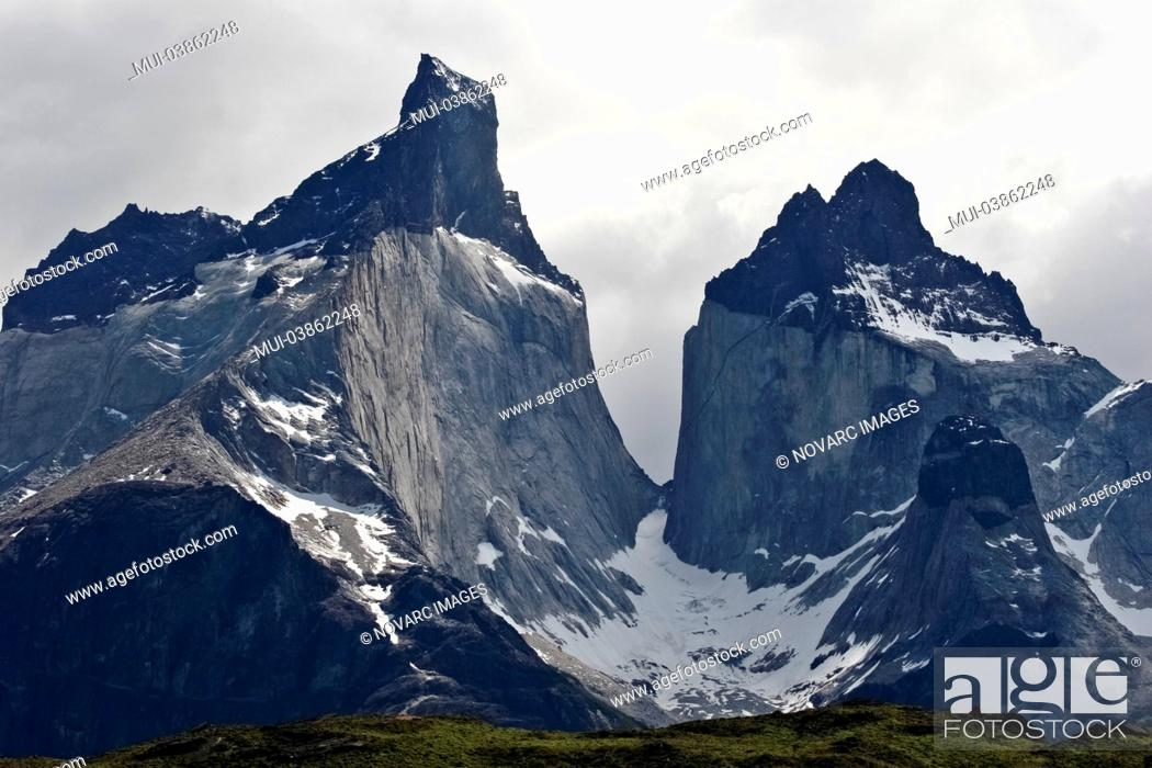 Stock Photo: Cuernos del Paine, Torres del Paine National Park, Chile, South America.