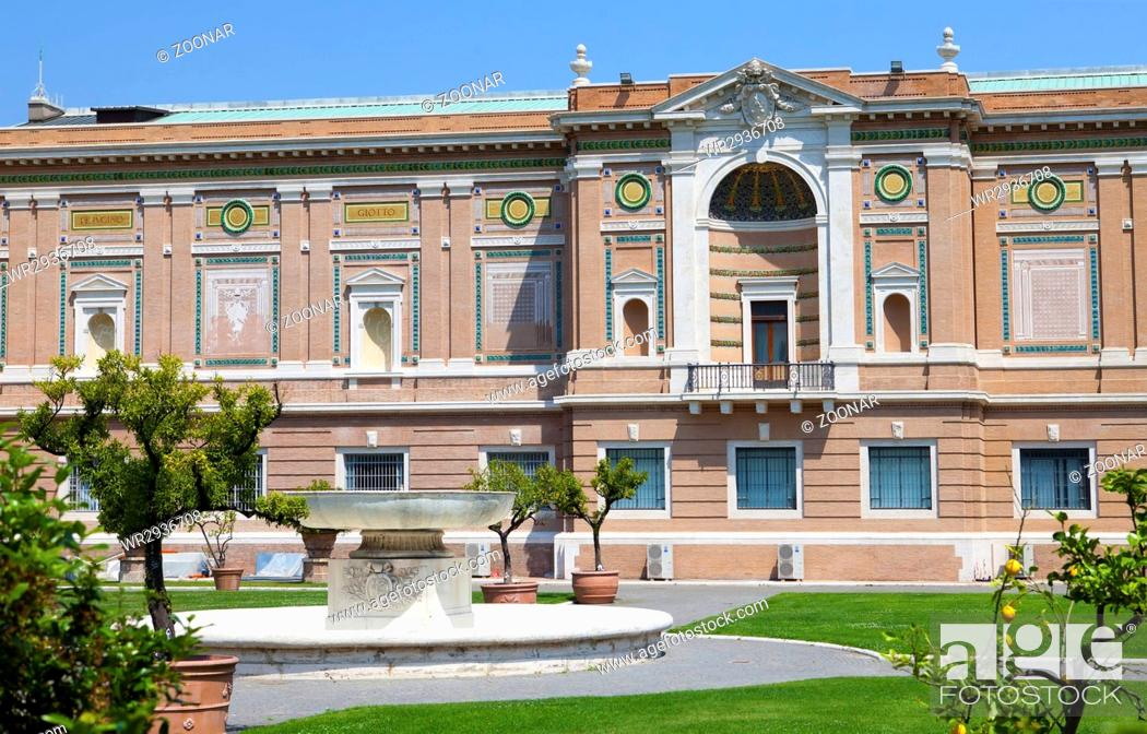 Stock Photo: View on Vatican Museum in Rome, Italy.