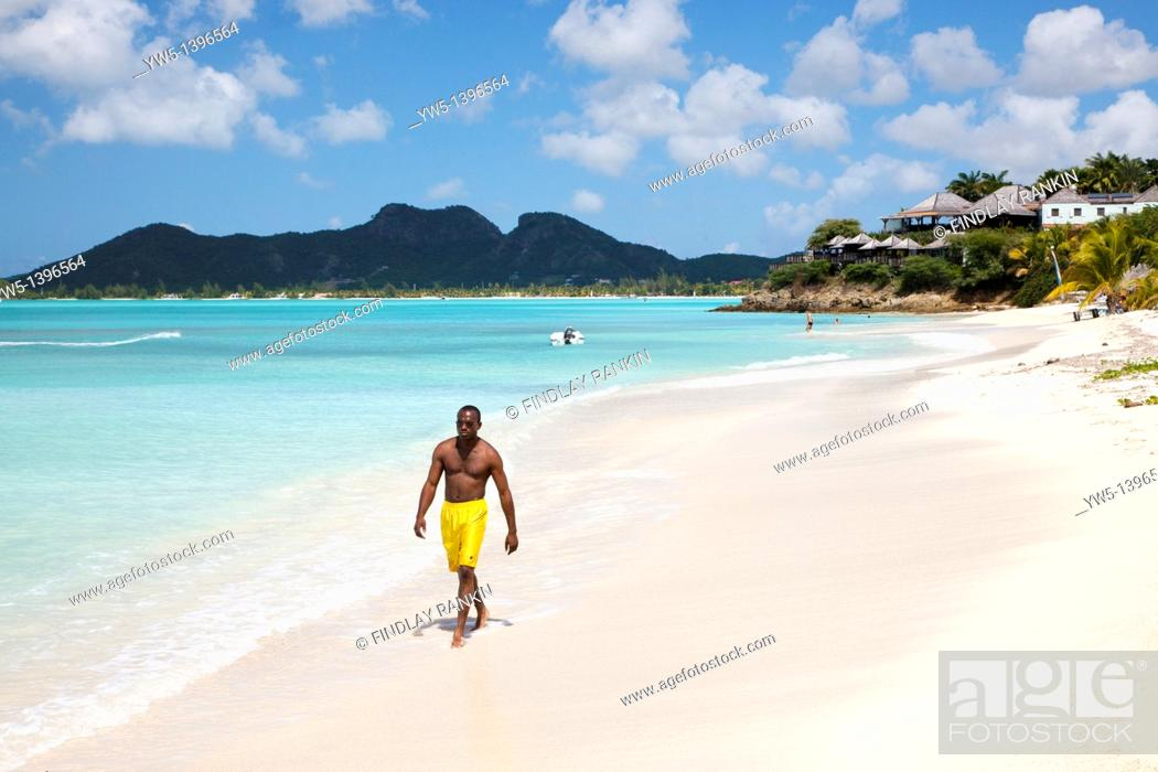 Stock Photo: Ffyres Bay, Antigua with Coco Bay hotel and Pearns Point.