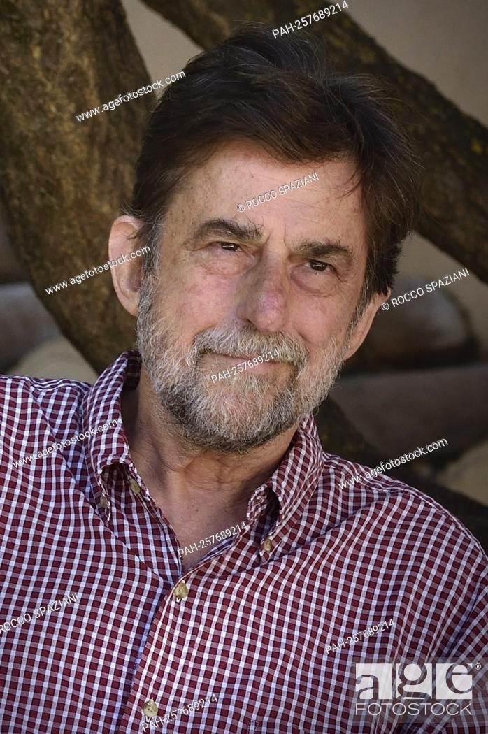"""Stock Photo: ROME, ITALY - SEPTEMBER 22: director Nanni Moretti attend the photocall of the movie """"""""Tre Piani"""""""" on September 22, 2021 in Rome, Italy."""