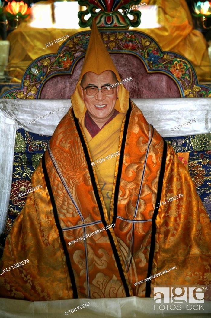 Painting of the Dalai Lama Buddhist monks are living in monastries