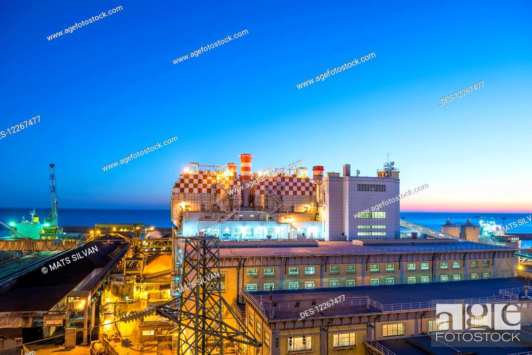 Stock Photo: Thermal Power Plant; Genoa, Liguria, Italy.