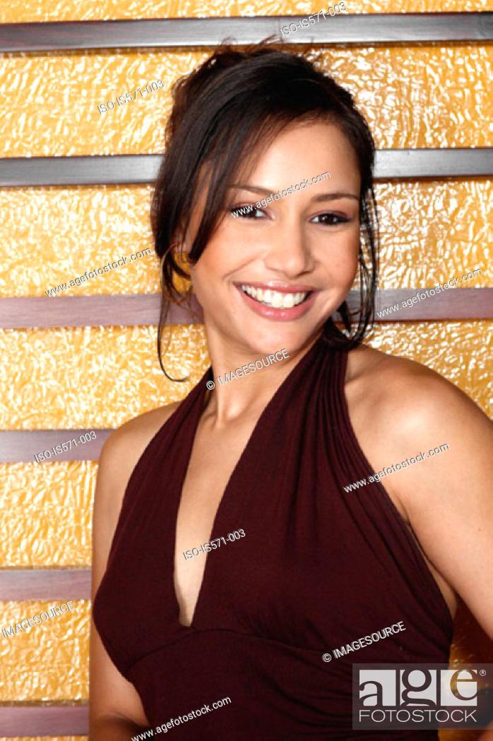Stock Photo: Smiling hispanic woman.