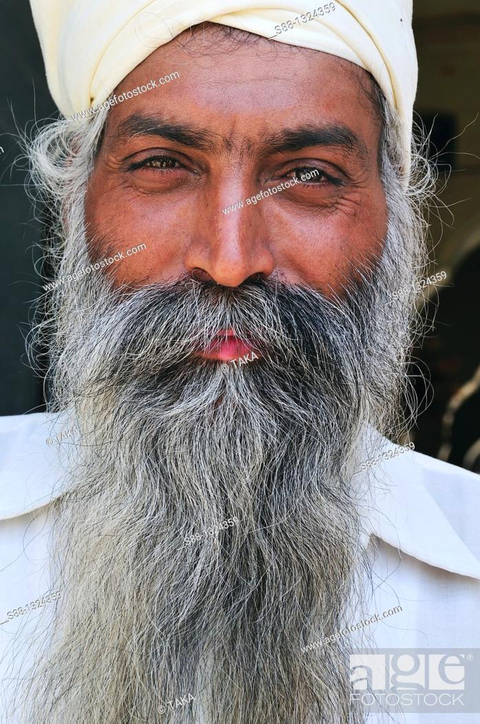 Stock Photo: Sikh man at the Golden Temple.