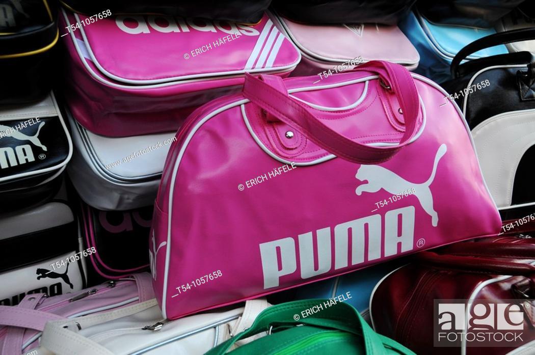 Stock Photo: A Imitation of a pink Puma Bag.