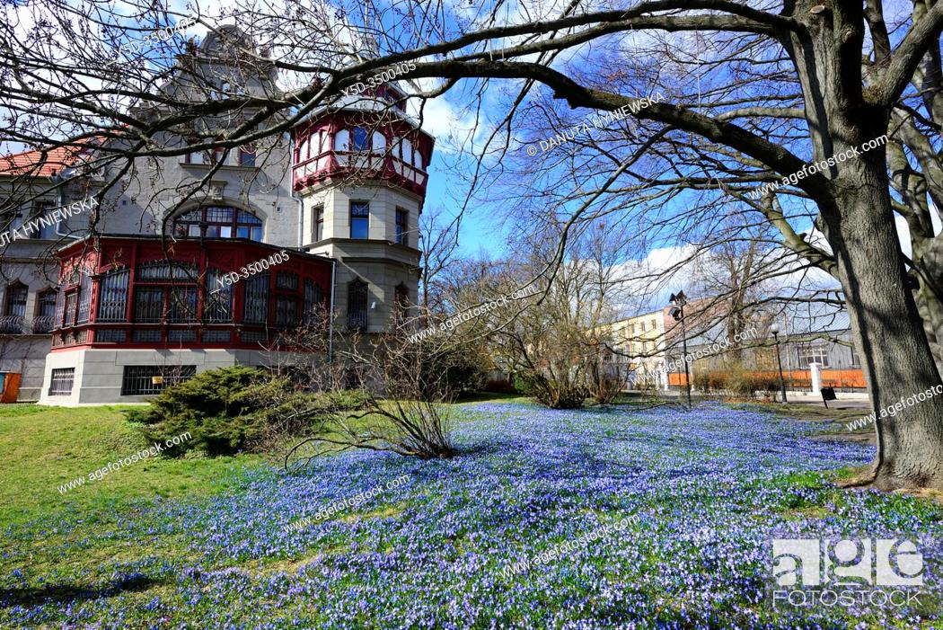 Stock Photo: Europe, Poland, Lodz, Historic Villa of Reinhold Richter in park named after the bishop Michal Klepacz in the city center.