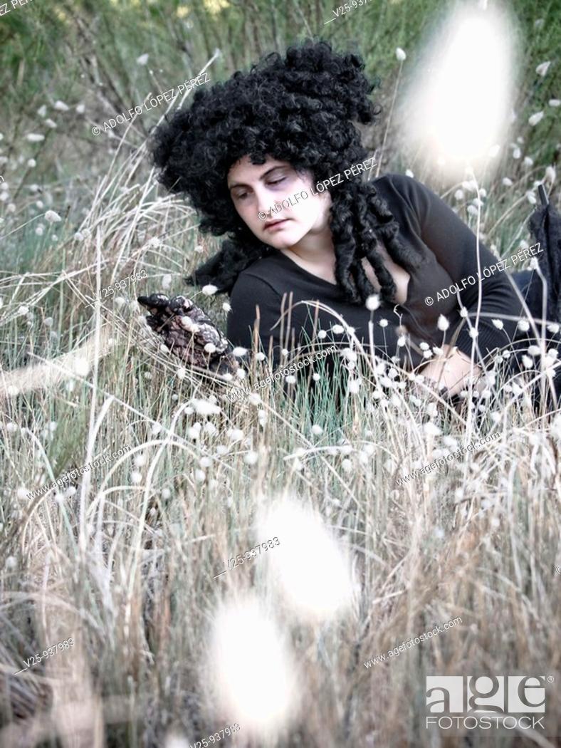 Stock Photo: Gothic woman.