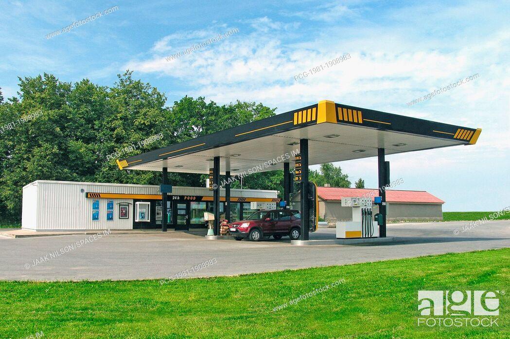 Stock Photo: Estonian Gas Station.