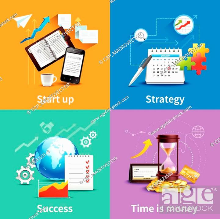 Stock Vector: Business Design Concepts.