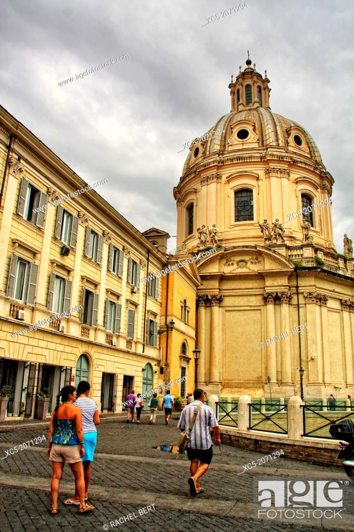 Stock Photo: Santa Maria di Loreto, Rome, Rome, Italy.
