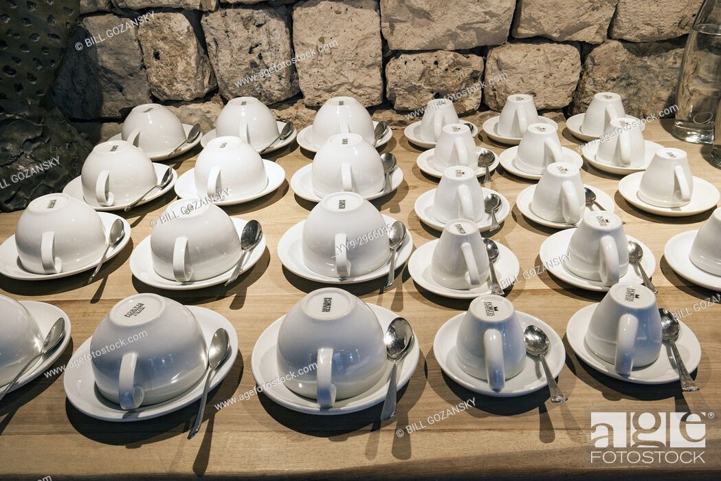 Stock Photo: Coffe and Tea Station at Onguma The Fort, Onguma Game Reserve, Namibia, Africa.