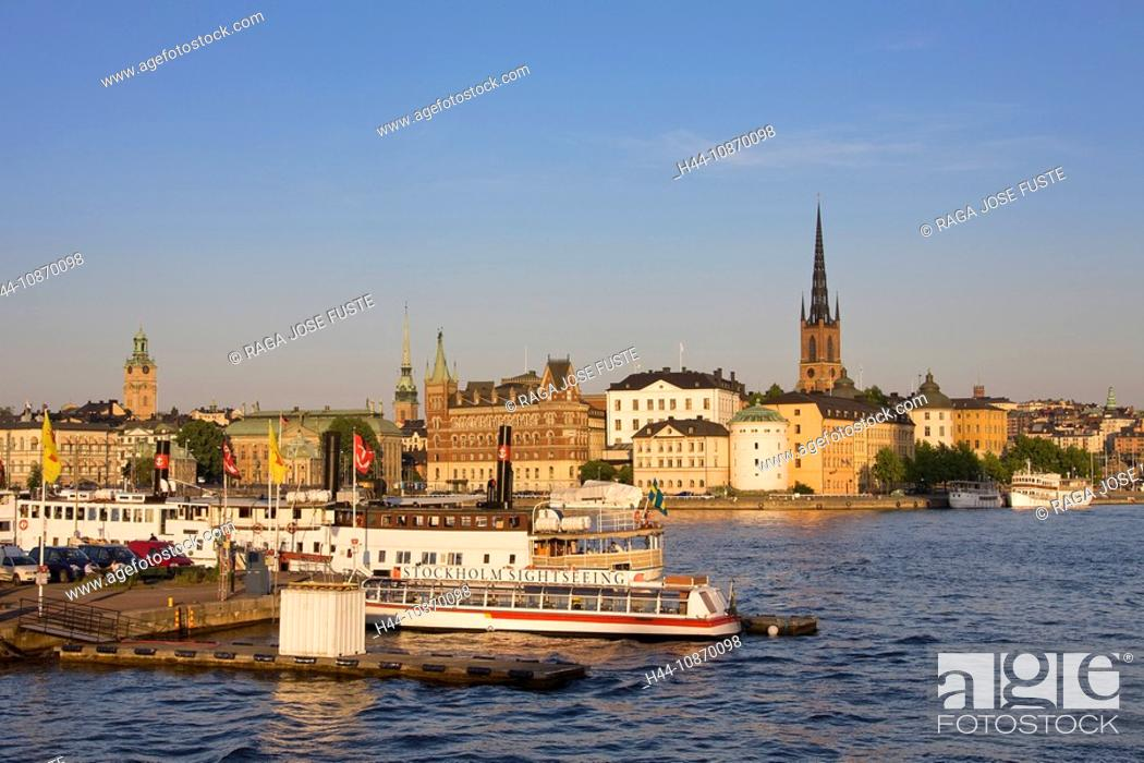 Stock Photo: Sweden, Stockholm, Södermalm, church, water, travel, traveling, tourism, holidays, vacation.