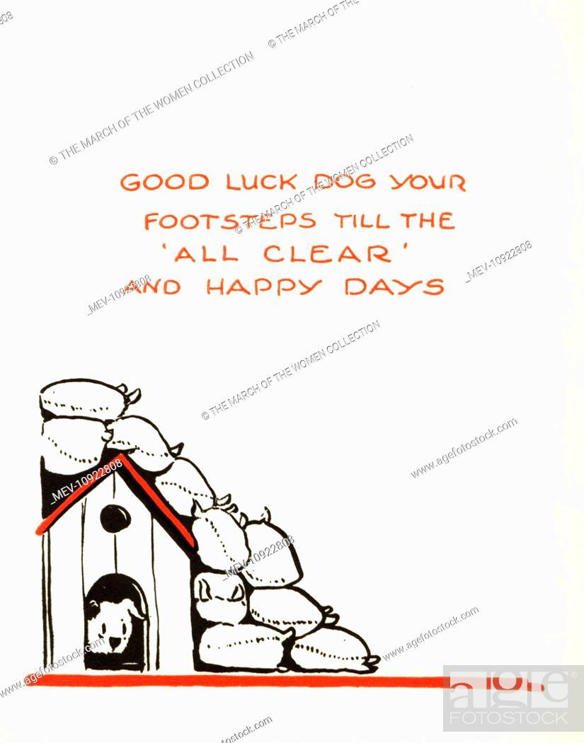 WW2 Birthday Card Inside Cartoon By Richardson A Dog Its