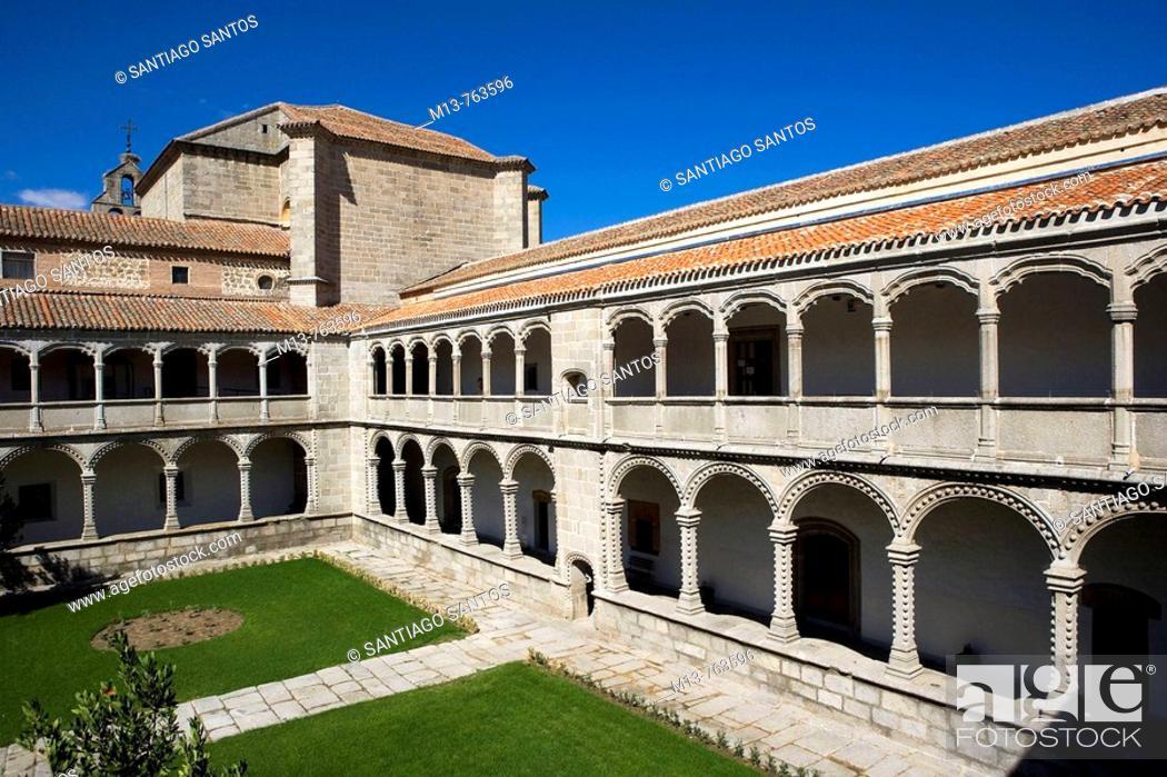Stock Photo: Cloister of the Kings in the Royal Monastery of Santo Tomas, Avila. Castilla-Leon, Spain.