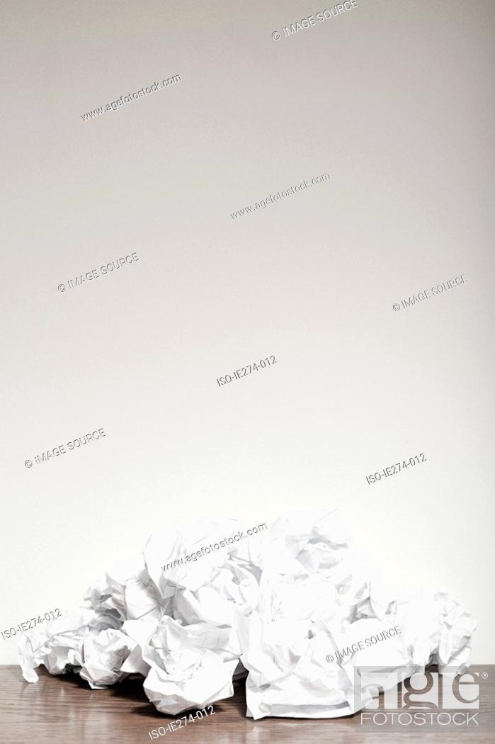 Stock Photo: Crumpled paper.