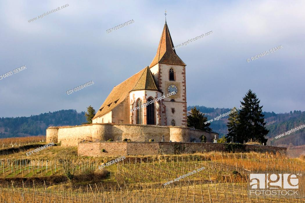 Stock Photo: Hunawihr, Alsace, France.
