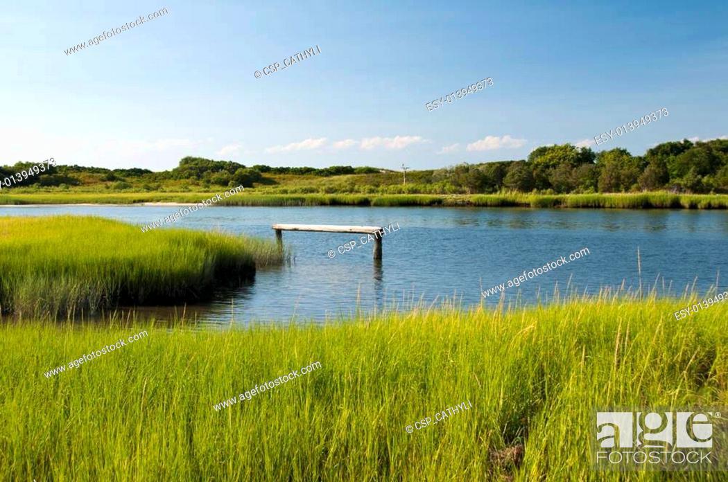 Stock Photo: Mattituck Inlet.