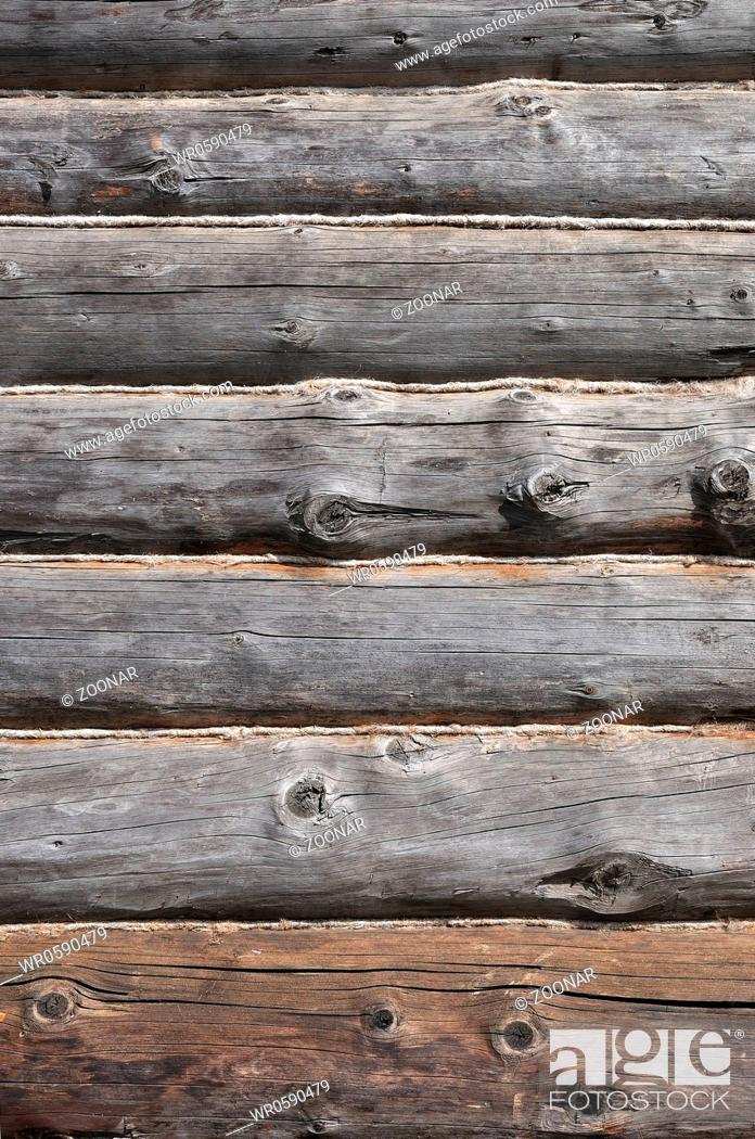Stock Photo: Old wooden logs.