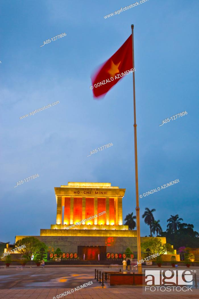 Stock Photo: Ho Chi Minh Mausoleum. Hanoi. Vietnam.