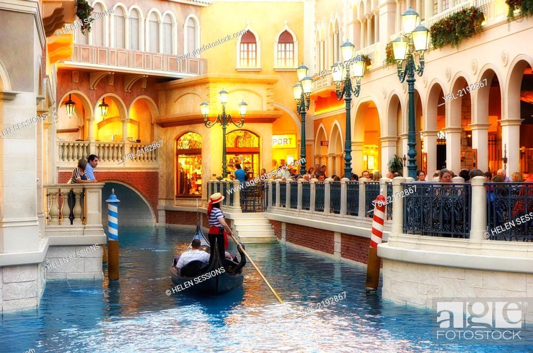 Inside The Venetian Hotel Shops Restaurants Gondola