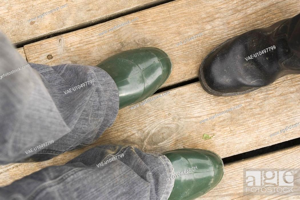 Stock Photo: Boots, Casual Clothing, Close-Up.