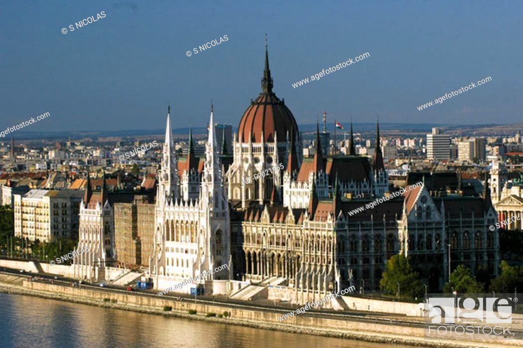 Stock Photo: Hungary, Budapest, Parliament.
