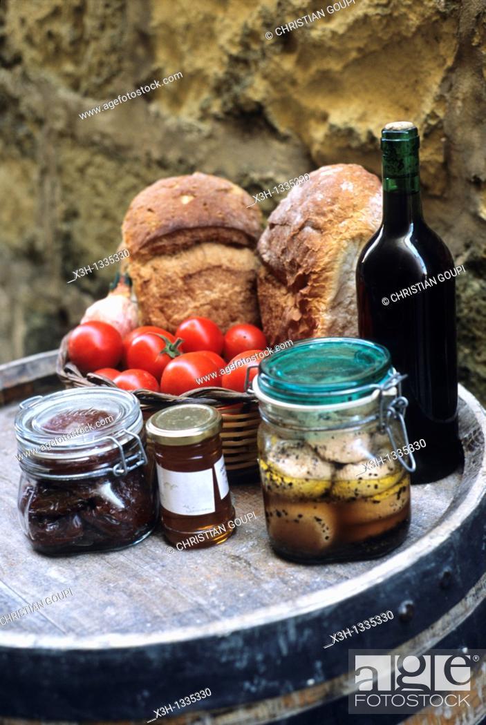 Stock Photo: local products, Victoria, Gozo, Malta, Mediterranean Sea.