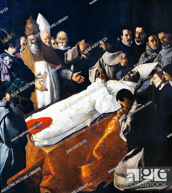 Imagen: The exposition of the body of Saint Bonaventure, 1629, by Francisco de Zurbaran (1598-1664). Spain, 17th century.  Paris, Musée Du Louvre.