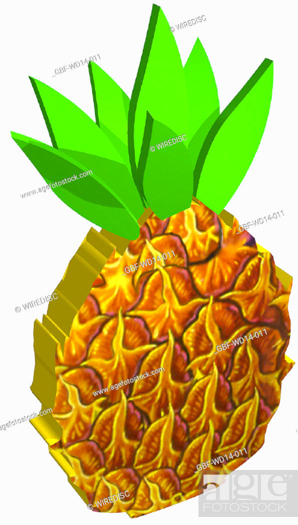 Stock Photo: Illustration, fruit, pineapple.