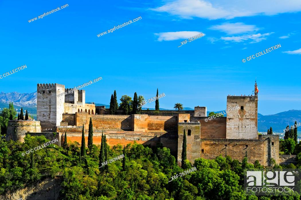 Photo de stock: Alcazaba of the Alhambra, UNESCO World Heritage Site, Granada, Andalusia, Spain.