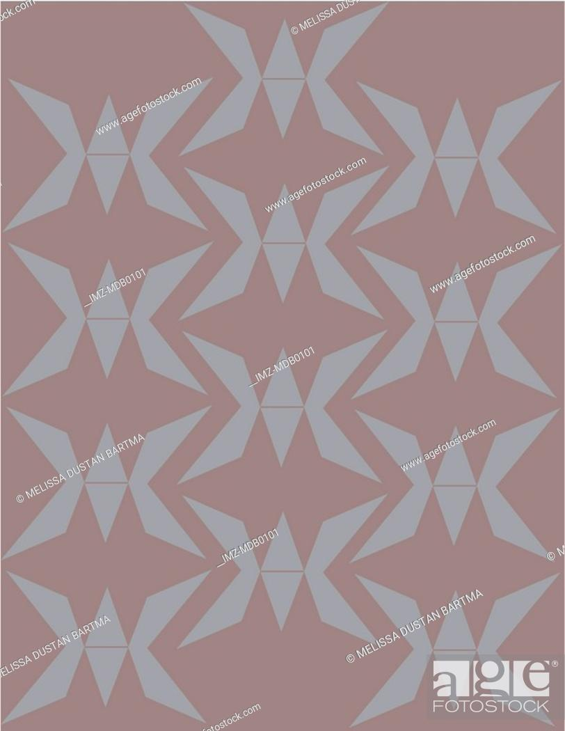 Stock Photo: Gray abstract origami shape patterns.
